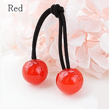 Load image into Gallery viewer, [12 Colors] Candy Colors Jelly Balls Hair Ring 2 Pieces SP151665 - SpreePicky  - 10