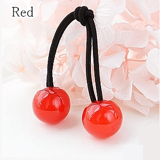 [12 Colors] Candy Colors Jelly Balls Hair Ring 2 Pieces SP151665 - SpreePicky  - 10