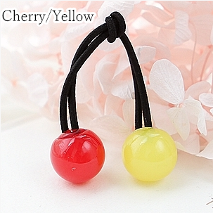 [12 Colors] Candy Colors Jelly Balls Hair Ring 2 Pieces SP151665 - SpreePicky  - 11
