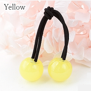 [12 Colors] Candy Colors Jelly Balls Hair Ring 2 Pieces SP151665 - SpreePicky  - 2