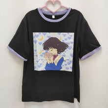Load image into Gallery viewer, Purple Love Girl Print T-shirt SP15201