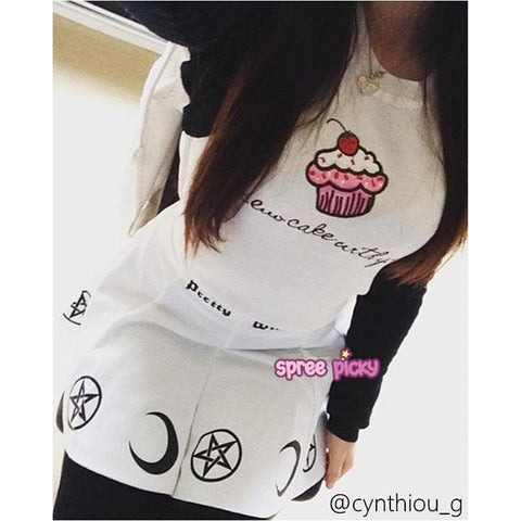 Pink/White Cupacke Icecream Kawaii Tee Shirt SP152159