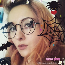Load image into Gallery viewer, Black Lolita Gothic Style Glasses SP165737
