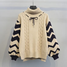 Load image into Gallery viewer, Sweet Loose Turtleneck Knitting Sweater SP1711274