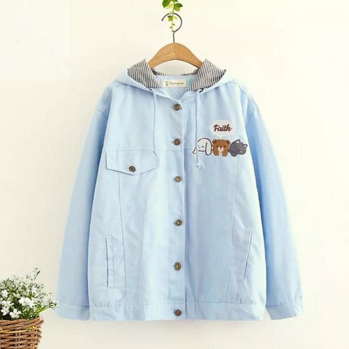 Blue/Pink Happy Pet Pocket Jacket Coat SP1711396
