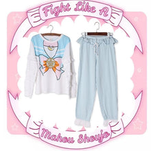 Load image into Gallery viewer, Blue/Pink Sailor Moon Falbala Homewear Set SP1711407