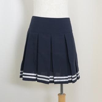 S-2XL Sailor Collar White Top and Navy Pleated Skirt School Uniform Suit Set SP140988 - SpreePicky  - 4