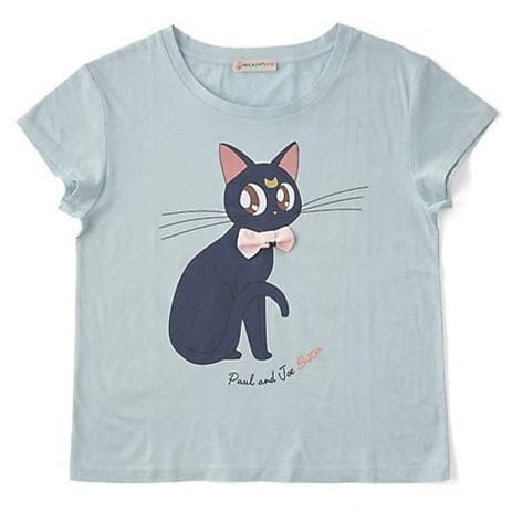 Sailor Moon Bowknot Cats Printed T-shirt SP179487