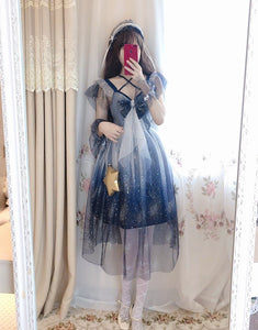 Sailor Moon Galaxy Bow Maxi Dress SP14369