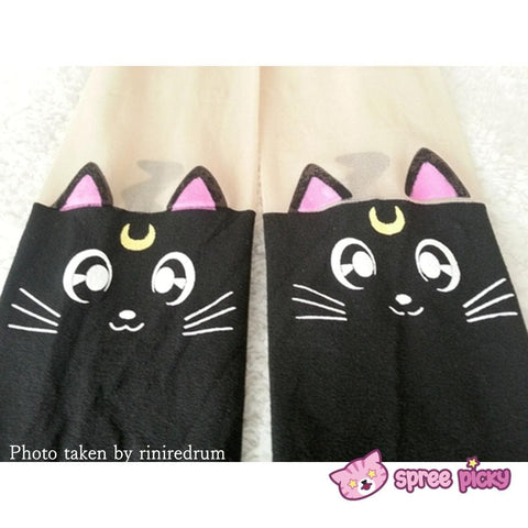 Screaming! Sailor Moon Luna Artemis Kitten with Tail on Back Legging Tights SP141305 - SpreePicky  - 11