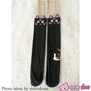 Screaming! Sailor Moon Luna Artemis Kitten with Tail on Back Legging Tights SP141305 - SpreePicky  - 10