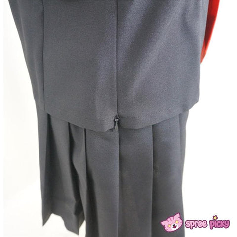 [Set] Sailor Collar School Black Uniform Suit with Red Tie Cosplay Costume SP140987 - SpreePicky  - 6