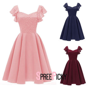 Satin Solid Swing Dress SP13883