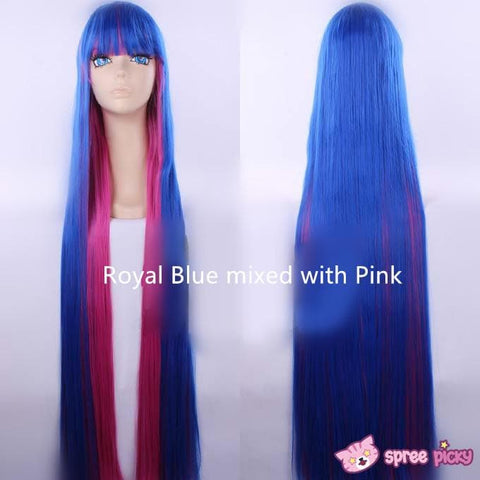 2 Colors Cosplay Costume Panty & Stocking Navy/ Royal Blue Wig 100 cm SP151650 - SpreePicky  - 6