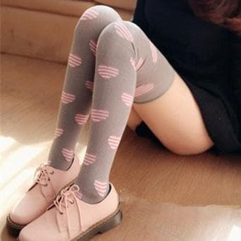 3 Colors Sweet Hearts Over Knees Stockings SP141367 - SpreePicky  - 2