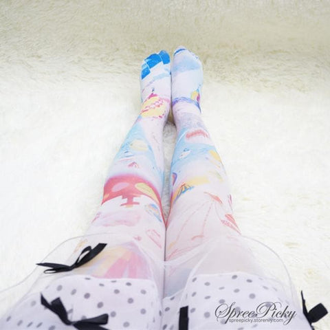 Helium Balloons Cartoons Printing Tights SP140396 - SpreePicky  - 4