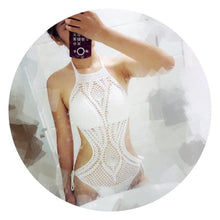 Load image into Gallery viewer, 4 Colors Sweet Crochet One-Piece Swimsuit SP179984