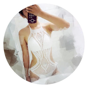 4 Colors Sweet Crochet One-Piece Swimsuit SP179984