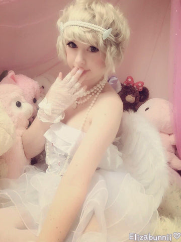 Angel Fairy With Wings White Flufy Dress SP141214 - SpreePicky  - 2