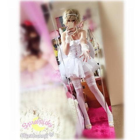Angel Fairy With Wings White Flufy Dress SP141214 - SpreePicky  - 4