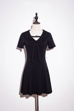 Load image into Gallery viewer, Black Gothic Belt Sailor Dress SP179828