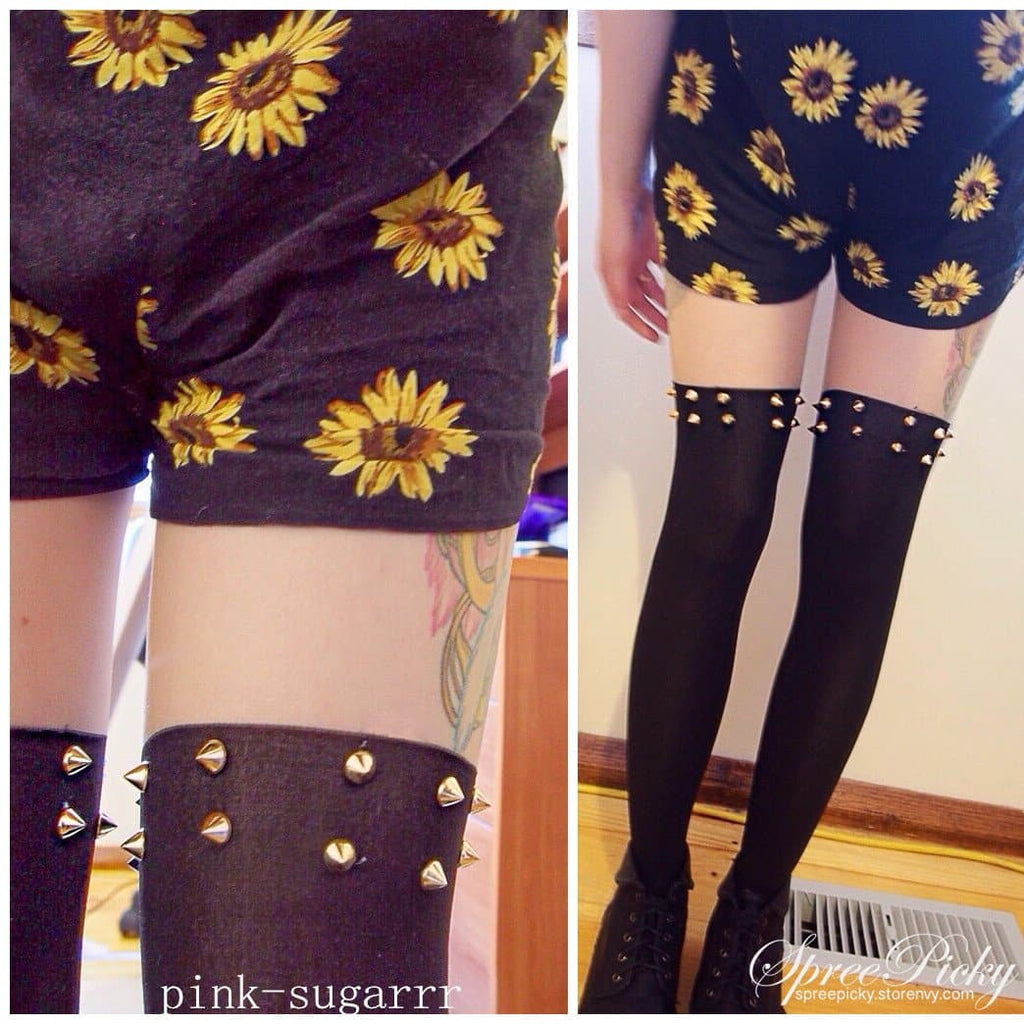 Harajuku Fashion Sexy Riveting Fake Over Knee Tights SP140375 - SpreePicky  - 1