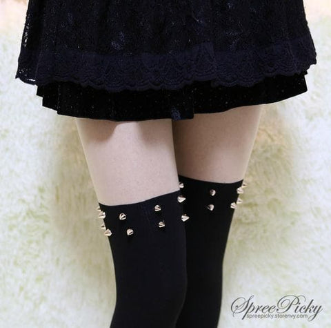 Harajuku Fashion Sexy Riveting Fake Over Knee Tights SP140375 - SpreePicky  - 3