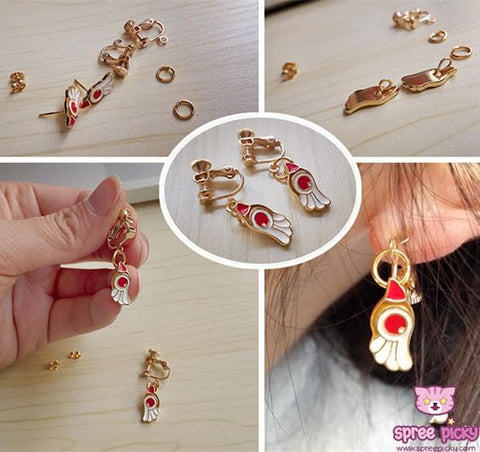Card Captor Sakura Shimmer Ring/Earrings/Necklace SP152329 - SpreePicky  - 6