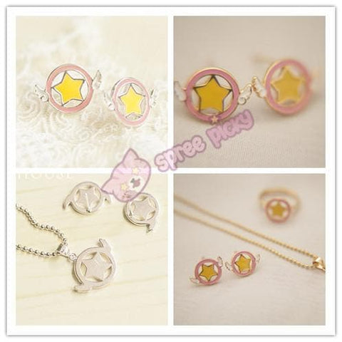 Card Captor Sakura Shimmer Ring/Earrings/Necklace SP152329 - SpreePicky  - 2
