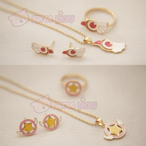 Card Captor Sakura Shimmer Ring/Earrings/Necklace SP152329 - SpreePicky  - 1