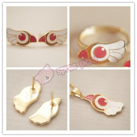 Card Captor Sakura Shimmer Ring/Earrings/Necklace SP152329 - SpreePicky  - 3