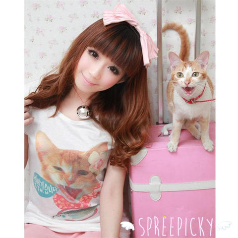 Cat Kitten Short Sleeve T-Shirt Top SP140846 - SpreePicky  - 1