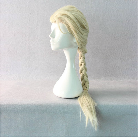Cosplay Frozen Queen Elsa Braided Pale Gold Wig  SP141192 - SpreePicky  - 2