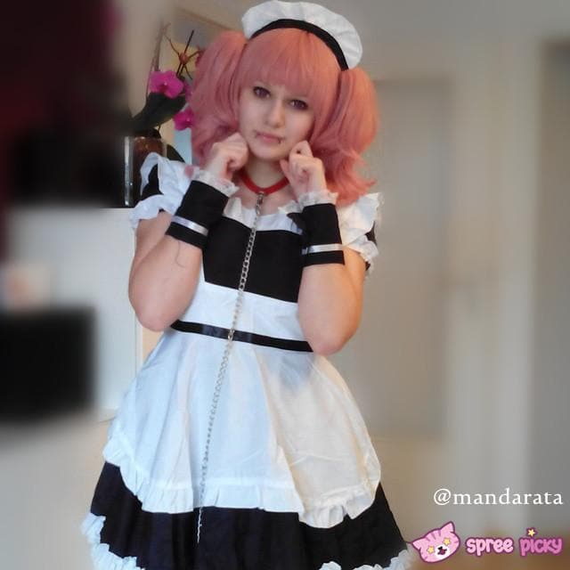 Cosplay Roromiya Karuta Black Maid Dress Set SP141231 - SpreePicky  - 1