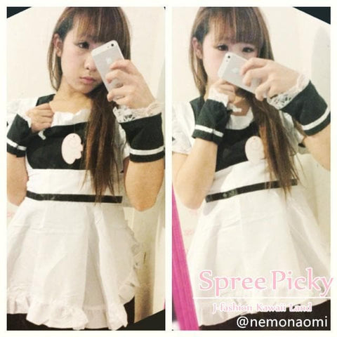 Cosplay Roromiya Karuta Black Maid Dress Set SP141231 - SpreePicky  - 2