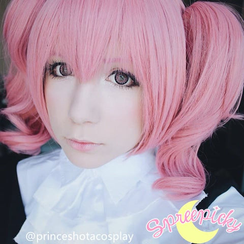 Cosplay Roromiya Karuta Lolita Pink Wig With Two Pony Tails Sp141235 - SpreePicky  - 4