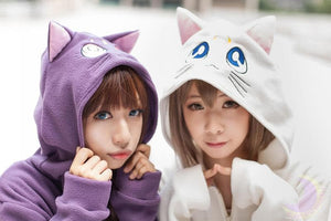 Cosplay Sailor Moon Luna Artemis Polar Fleece Hoodie Sweater Jacket Coat SP141188 - SpreePicky  - 1