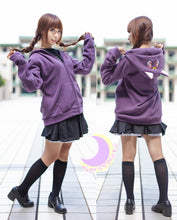 Load image into Gallery viewer, Cosplay Sailor Moon Luna Artemis Polar Fleece Hoodie Sweater Jacket Coat SP141188 - SpreePicky  - 4