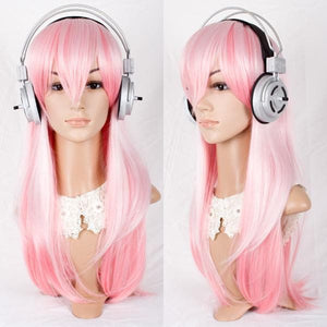 Cosplay Super Sonico Pale Pink Long Wig  SP141223 - SpreePicky  - 5