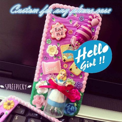 [Custom Made] Creamy Handmade Alice in Wonderland for All Phone Case SP140864