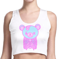 Creepy Cute Skeleton Teddy Crop Top SP1710474