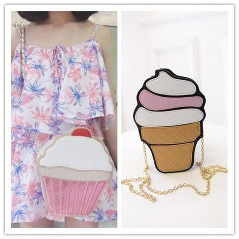 Cupcake Ice-cream Shoulder Bag SP152314 - SpreePicky  - 2