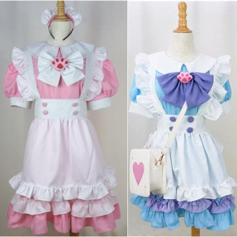 Custom Lolita Princess Maid Dress With Paw Brooch and Black KC SP140839 - SpreePicky  - 2