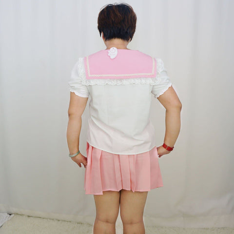 L/XL Exclusive Custom Dreamy Sweet Sailor Lace Top with Detachable Bow SP141068 - SpreePicky  - 6