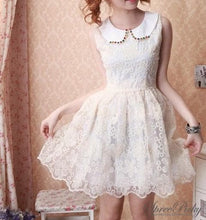 Load image into Gallery viewer, Floral Lace Organza Bubble Dress SP140584 - SpreePicky  - 3
