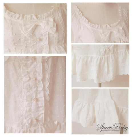 Bowknot Pendulum Sleeve Blouse Top SP140358 - SpreePicky  - 5