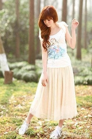 5 colors Grenadine High-Waited Long TUTU Skirt  SP140518 - SpreePicky  - 4