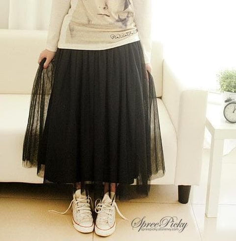 5 colors Grenadine High-Waited Long TUTU Skirt  SP140518 - SpreePicky  - 5