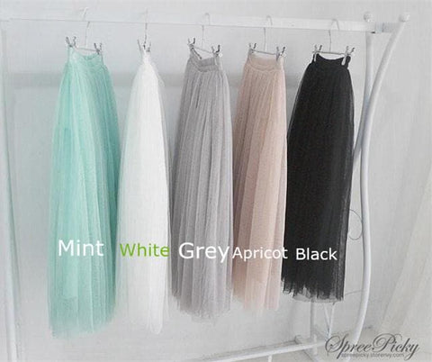 5 colors Grenadine High-Waited Long TUTU Skirt  SP140518 - SpreePicky  - 3