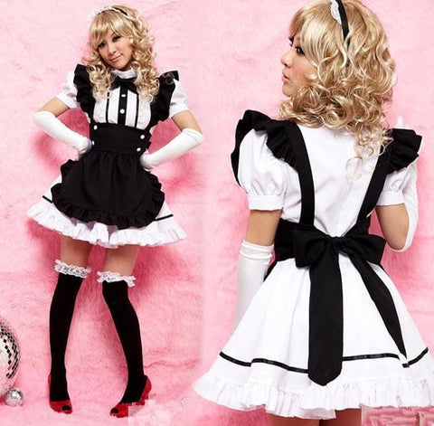 Halloween Cosplay Black Maid Dress SP141208